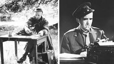 Ernie Pyle And Edward R. Murrow During The Blitz Of London How #EdwardRMurrow and #ErniePyle covered #WorldWarII - #journalism and #reporting at its finest! #history #reporter