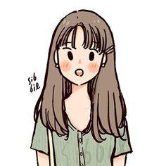 Cartoon Art Styles, Cute Art Styles, Cartoon Girl Drawing, Girl Cartoon, Cute Illustration, Character Illustration, Digital Illustration, Arte Indie, Cute Couple Art