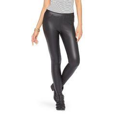 Women's Jeggings Black Faux Leather - Xhilaration®
