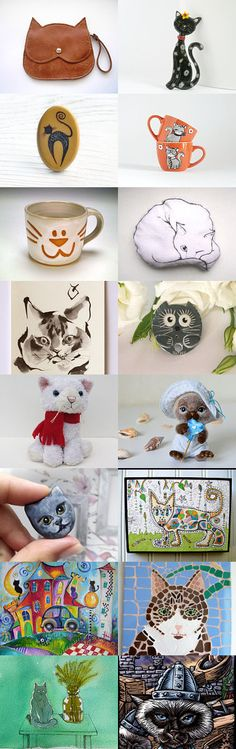 Cat's Emotions VII in treasury from Jelena DizArtEx on Etsy--Pinned with TreasuryPin.com #cat #emotion #design #decor #art