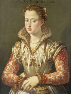 PORTRAIT OF A YOUNG WOMAN 1565 FOLLOWER OF AGNOLO BRONZINO ITALIAN, 16TH CENTURY Seattle Art Museum