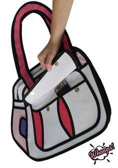 Bolsa 2D Puddin - Pink (ref. BL001A).  #whoops2dbags #bolsa2D #bolsa3D #fundesign #cartoonbag