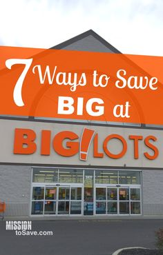 Do you love shopping at Big Lots for the great deals? There may be some some ways to save at Big Lots that you didn't know before. See these 7 Ways to Save Big at Big Lots! by helga Best Money Saving Tips, Ways To Save Money, Money Tips, Saving Money, Money Savers, Money Hacks, Frugal Living Tips, Frugal Tips, Big Lots Store
