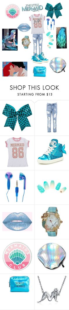 """""""Little mermaid"""" by the-mad-hatter-girl ❤ liked on Polyvore featuring Chassè, Boohoo, Miss KG, Betsey Johnson, Circus by Sam Edelman, Pinch Provisions, Bling Jewelry and Disney"""