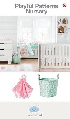 Playful and feminine, the Pink Triangles nursery collection by the new Cloud Island is totally baby-girl approved (and only at Target). Covered in delightful pinks, corals, mints and grays, you'll adore the fun triangle, arrow and feather pattern play on the super soft sheets, bedding, blankets and decor. Made to mix, match and make uniquely yours, the modern, cheerful vibe will be perfect for you and your sweet boho babe.