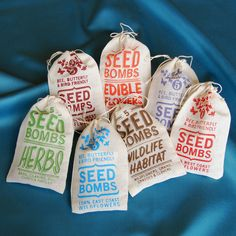 Any 7 Seed Bombs for Guerilla Gardening with Combined S/H Choose from Herb, Edible Flowers, Dog & Cat Friendly and Regional Varieties. $49.00, via Etsy.