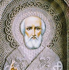 Ukrainian artist Vladimir Denshchikov creates mind-blowing religious icons made almost entirely of linen thread.