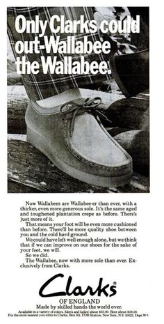 #Clarks Wallabee ad