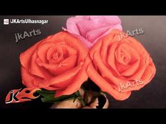 How to make crepe paper Rose/Valentine's Day gift idea - YouTube