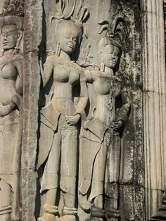 Devata reliefs at Angkor Wat - Cambodia
