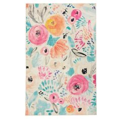 Mohawk Home Watercolor Floral Multi 5 ft. x 8 ft. Theme Area Rug 050359 - The Home Depot
