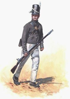 War of 1812: America: United States Infantry Private during the War of 1812, by Don Troiani.
