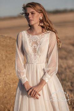 Wedding Dress Sleeves, Modest Wedding Dresses, Boho Wedding Dress, Chic Wedding, Bridal Dresses, Prom Dresses, Dream Dress, I Dress, Lace Dress