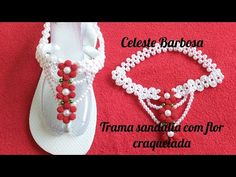 Trama Sandália com flor craquelada - YouTube Malu, Bead Crafts, Beads, Diy, Videos, Shoes, Flip Flop Decorations, Personalized Flip Flops, Decorated Flip Flops