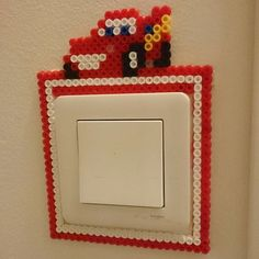 McQueen Cars light switch cover perler beads by malins.perler