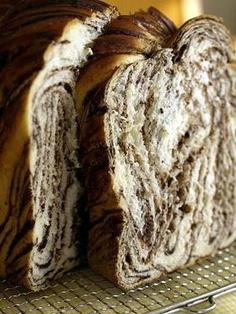 My next bread challenge! Chocolate swirl bread :) Drool