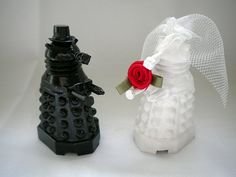 Dalek wedding cake toppers.