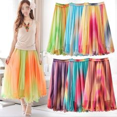 Summer colorful Women Sexy Chiffon Ball Evening Party Maxi Dresses