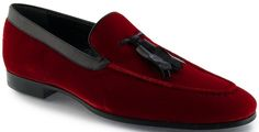 Arfango Firenze Tasseled Velvet Loafers