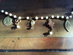 Antique Religious Medal Bracelet by HerSavingGrace on Etsy