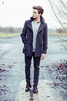 #coat #jeans #grey #streetstyle #style #menstyle #manstyle #menswear #fashion #mensfashion