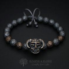 eadcddf59 Warrior Helmet Bracelet, Mens Bracelet, Helmet charm, Mens Jewelry, Armband  Rannekoru, Medieval Jewelry