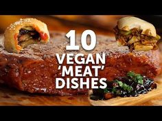We transform plant-based ingredients into super 'meaty' dishes that are vegan. These are our Top 10 vegan meat alternatives to wow your carnivore friend. Vegan Recipes Videos, Chilli Recipes, Burger Recipes, Steak Recipes, Whole Food Recipes, Vegetarian Recipes, Vegan Vegetarian, Seitan Recipes, Vegan Steak Recipe