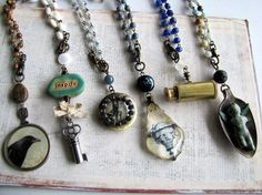 Found Object Jewelry Ideas | Beading Ideas / I'm obsessed with found object jewelry!