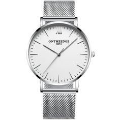 OnTheEdge - A Classic look to a nice clean and simple looking timepiece. From our Bright Whites Collection. Tags: Simple watches for men Simple Watches, Watches For Men, White Backdrop, Stainless Steel Case, Classic Looks, Leather Case, Quartz, Minimalist, Bright