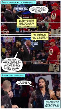 Credit JenJ@forever_ambrose Wwe Funny, Hilarious, I Just Dont Care, Wwe Tna, Triple H, Dean Ambrose, King Of Kings, Seth Rollins, John Cena
