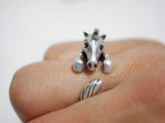 Ringe - Einhorn Ring ✮ größenverstellbar ✮ silberfarben - ein Designerstück von…