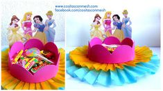 Aprende cómo hacer un stand para dulces reciclando cartón y foami ~ Mimundomanual Ideas Para Fiestas, Holidays And Events, Minnie Mouse, Projects To Try, Birthday Cake, Party, Desserts, Kids, Things To Sell