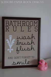 Image of Bathroom Rules
