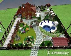 Conception De Jardin Potager - New ideas Garden Design Plans, Landscape Design Plans, Landscape Architecture, Architecture Plan, Backyard Landscaping, Landscaping Ideas, Backyard Ideas, Luxury Landscaping, Landscaping Company