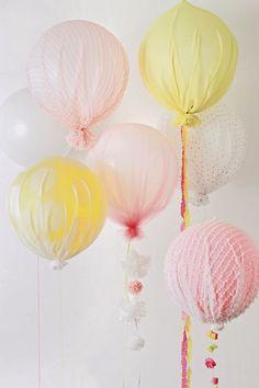 Encontrando Ideias: Balões com Tecido!!