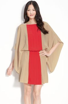 Donna Morgan Pleat Front Kimono Sleeve Dress. Nordstrom. $168
