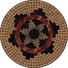 Pueblo Basket - Southwest-Geometric custom area rug.  Make yours today at www.HighCountryRugs.com