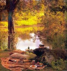 """""""au bord de l'étang  (rétrogirl)"""