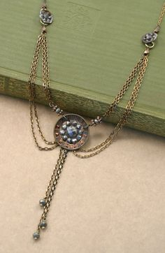 Vintage Steel Cut Button Chandelier Necklace by sayuridesigns, $95.00.  Gorgeous!!