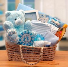 Precious Baby Gift Basket Pink or Blue