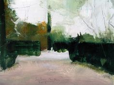 El Capricho garden #2 - Oil on wood, 17.5 x 23 cm. Private Collection.