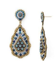 Miguel Ases Beaded Drop Earrings   Bloomingdales's