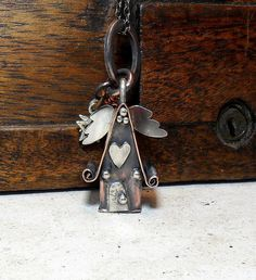 Fairy House with Wings Handmade in Copper by StudioJewellerybyJo