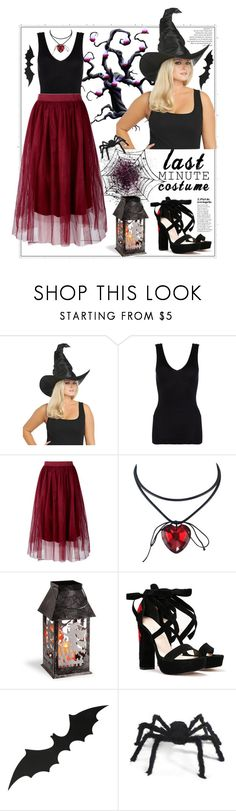 """Last Minute Halloween Costume"" by natalyapril1976 ❤ liked on Polyvore featuring Torrid, Hanro, Boohoo, National Tree Company and Nasty Gal"