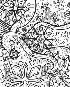 Art Ed Central loves this Snowflake Instant Download Print.