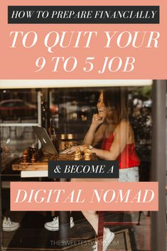 From 9 to 5 Job to Digital Nomad: How to Prepare Financially - The Sweetest Way - From 9 to 5 Job to Digital Nomad: How to Prepare Financially (Photo by Megan Kathleen Photography) Digital Marketing Strategy, Content Marketing, Marketing Software, Internet Marketing, Media Marketing, Citation Motivation Sport, 9 To 5, Quitting Your Job, Work Travel