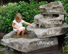 """Grande - Stackable Waterfall Rock Basin with or without Spillway by Createk Stone (59"""" x 56"""" x10"""")"""