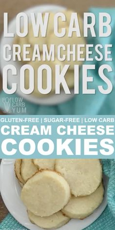 Cream Cheese Cookies Gluten Free Low Carb is part of Keto dessert - Yummy low carb and gluten free cream cheese cookies These tasty sugar free cookies can be pressed or cut into festive shapes for any holiday Keto Cookies, Cookies Sans Gluten, Sugar Free Cookies, Sugar Free Desserts, Dessert Recipes, Sugar Free Snacks, Dinner Recipes, Sugar Detox Snacks, Diabetic Desserts Sugar Free Low Carb