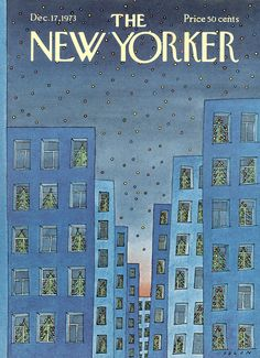 The New Yorker - Monday, December 17, 1973 - Issue # 2548 - Vol. 49 - N° 43 - Cover by : Jean-Michel Folon