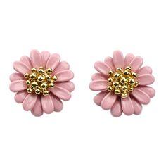 Pink Bead Flower Stud Earrings (7.39 BAM) via Polyvore featuring jewelry, earrings, beading earrings, pink jewelry, beaded earrings, flower stud earrings i bead jewellery